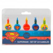 Conjunto 10 Velas Super Homem