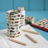 Conjunto 12 lápis de cor Transporte Vintage