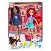 Conjunto 2 Bonecas Ariel e Pocahontas Rebeldes Princesas Disney