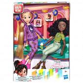 Conjunto 2 Bonecas Rapunzel e Tiana Rebeldes Princesas Disney
