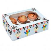 Conjunto 2 Caixas Cupcakes Piratas