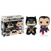 Conjunto 2 figuras POP Vinyl Batman + Superman DC Comics