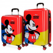 Conjunto 2 malas trolley abs Mickey Red