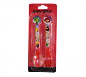 Conjunto 2 Talheres Plástico Angry Birds