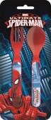 Conjunto 2 talheres plástico Spiderman Ultimate