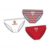 Conjunto 3 Cuecas Slips Menino Benfica