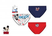 Conjunto 3 Cuecas Slips Menino Mickey Disney