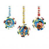 Conjunto 3 Decorações Toy Story
