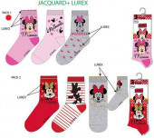 Conjunto 3 Meias Minnie Disney
