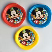 Conjunto 3 Pratos Mickey Disney