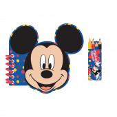 Conjunto 4 Cadernos Atividades com Lápis Brinde Mickey