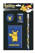 Conjunto 4 peças papelaria Pokemon Pikachu