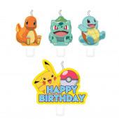 Conjunto 4 Velas Pokemon