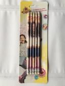 Conjunto 5 lápis c/ borracha Sou Luna