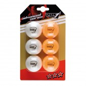 Conjunto 6 Bolas Ping Pong 3 Stars