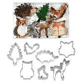 Conjunto 7 Cortadores Animais da Floresta