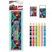 Conjunto 9 peças papelaria Avengers