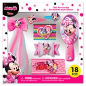 Conjunto Acessórios Cabelo Minnie 18 peças