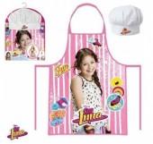 Conjunto avental+chapeu Chef Sou Luna