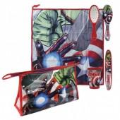 Conjunto bolsa necessaire viagem Avengers