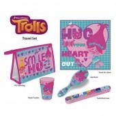 Conjunto bolsa necessaire viagem dos Trolls