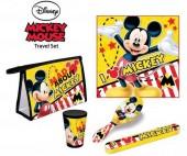 Conjunto bolsa necessaire viagem Mickey Disney