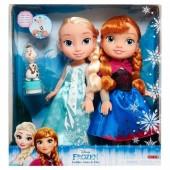 Conjunto boneca elsa anna e olaf frozen