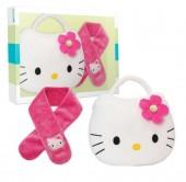 conjunto Cachecol e Álbum Fotos Hello Kitty