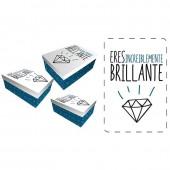 Conjunto caixas presente Baggy Diamante