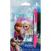 Conjunto caneta + bloco Frozen