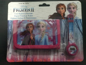 Conjunto Carteira + Relógio Digital Frozen 2