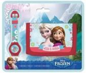 Conjunto carteira + relógio Disney Frozen
