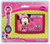 Conjunto carteira relógio Disney Minnie Aventura