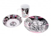 Conjunto ceramica refeição monster high