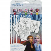 Conjunto Colorir com Lápis Frozen 2
