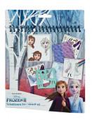 Conjunto Colorir Stencil Frozen 2