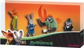 Conjunto de 4 Figuras Zootropolis