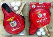 Conjunto de raquete ping pong com bolsa Benfica