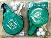 Conjunto de raquete ping pong com bolsa Sporting