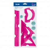 Conjunto de reguas rosa