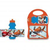 Conjunto de sandwicheira e cantil Dusty Planes Aviões - Disney