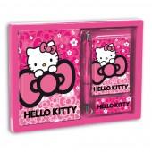 Conjunto Diario + Bloco Nuvem Hello Kitty