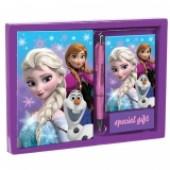 Conjunto diario+caneta Frozen Best Friends
