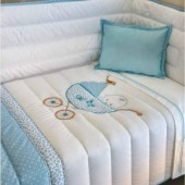 Conjunto Edredon cama bebé Cindy várias cores