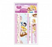 Conjunto escolar 5 pçs Princesas Disney