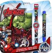 Conjunto Escolar + Relógio Digital Avengers