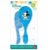 Conjunto Escova cabelo + pente Mickey bebé