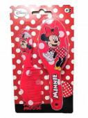 Conjunto Escova e Pente Vermelhos Minnie