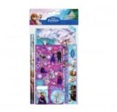 Conjunto estojo + papelaria Frozen, 5 pcs
