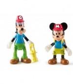 Conjunto Figuras Articuladas Mickey e Pateta